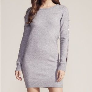NWT knit mini dress with sleeve cut-outs